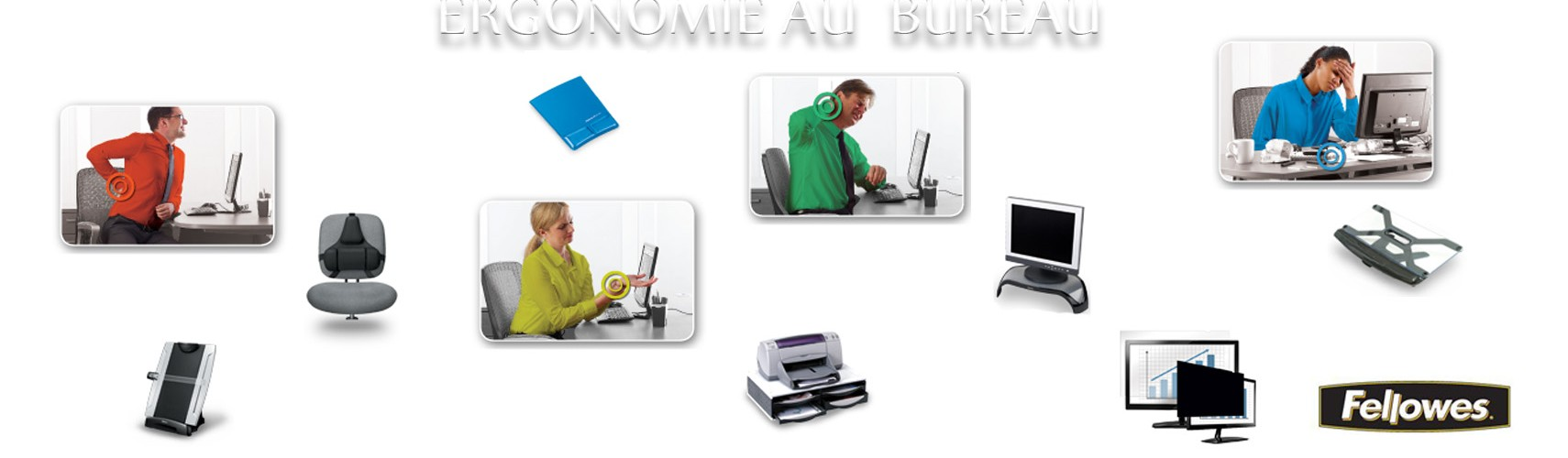 l ergonomie au bureau avec fellowes les experts du bureau. Black Bedroom Furniture Sets. Home Design Ideas